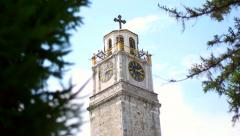 The Clock Tower of Bitola Stock Footage