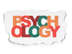 Health concept: Psychology on Torn Paper background Stock Illustration