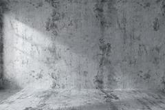 Empty concrete room wall interior - stock illustration