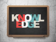 Stock Illustration of Learning concept: Knowledge on School Board background