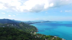 Aerial view of  islands near Phuket, Thailand Stock Footage