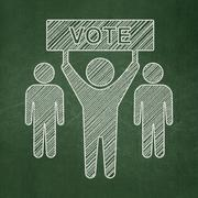 Political concept: Election Campaign on chalkboard background - stock illustration