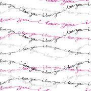 Hand drawn typography card. Valentine love card Piirros