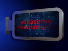 Industry concept: Automotive Manufacturing on billboard background Stock Illustration