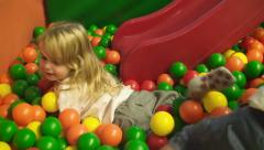 Game room girl ball pool 3 Stock Footage