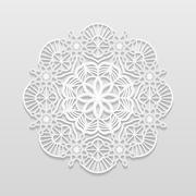 Lacy paper doily, decorative flower Stock Illustration