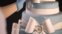 Creator of the wedding cake Stock Footage
