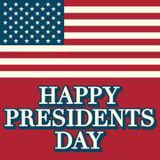 Presidents day background, united states Stock Illustration