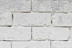 Wall texture white bricks - stock photo