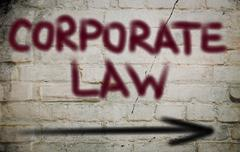 Stock Illustration of Corporate Law Concept
