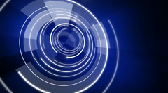 Abstract circle round background LOOP 4K blue Stock Footage