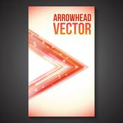 Abstract Straight Flow and Lines Arrowhead Brochure. Stock Illustration