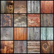 Stock Photo of collection of wooden textures for your design