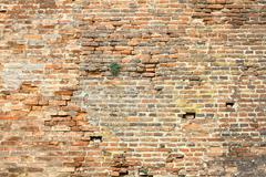 Stock Photo of old damaged exterior brick wall ready for your design
