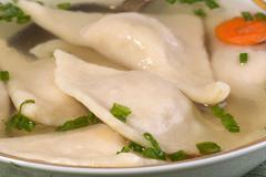 Jewish dumplings -  kreplach Stock Photos