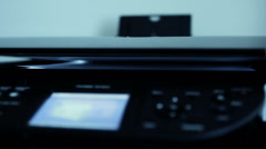 Office Business Copier In Action - stock footage