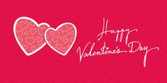Valentines Day Greeting Banner Background Stock Illustration