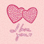 Valentines Day Greeting Card Background - stock illustration
