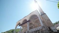 PRIZREN - KOSOVO, JULY 2015: View at the Sinan Pasha mosque in Prizren Stock Footage