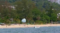 Activities on Karon Beach, Phuket, Thailand Stock Footage