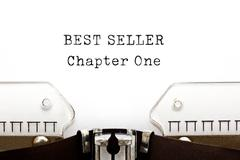 Best Seller Chapter One Typewriter - stock photo