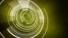 Abstract circle round background LOOP 4K yellow Stock Footage