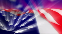 The American Flag with light effects ripples in a breeze - Flag FX1010 HD, 4K Stock Footage