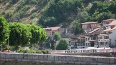 PRIZREN - KOSOVO, JULY 2015: Stone Bridge at Prizren city center Stock Footage