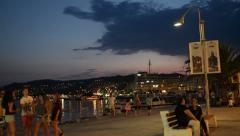 KAVALA - GREECE, JULY 2015: Everyday life at Kavala seaside Stock Footage