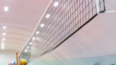 Professional volleyball ball Mikasa flies into the net Arkistovideo