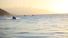 Puerto galera beach jetski Stock Footage