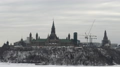 Parliament buildings in Ottawa Stock Footage