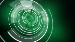 Abstract circle round background LOOP 4K space green Stock Footage