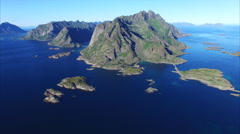 Beautiful Lofoten coast Stock Footage