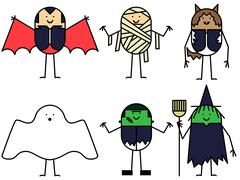 Halloween characters Piirros
