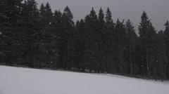4k Ski and toboggan run Wurmberg Harz mountains winter Stock Footage