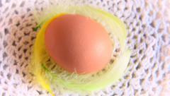 Rotating singel  Egg Stock Footage