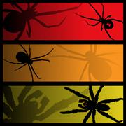 Spider banners - stock illustration