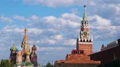 Moscow Kremlin and Red Square, Russia Stock Footage