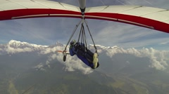 Hang-gliding flight to Annapurna Stock Footage
