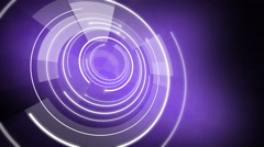 Abstract circle round background LOOP 4K violet Stock Footage