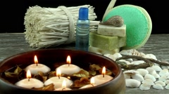 Aromatherpy and Spa Treatment - stock footage