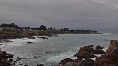 Monterey coastline, California, USA Stock Footage