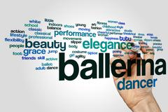 Ballerina word cloud concept - stock illustration