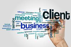 Client word cloud concept Stock Illustration