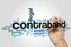 Contraband word cloud concept Stock Illustration