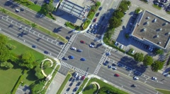 Aerial intersection Stock Footage