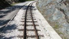 Journey on narrow-gauge railway - stock footage