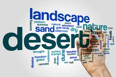 Stock Illustration of Desert word cloud concept