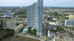 Paramount Bay Condominium shot with a rc drone - stock footage